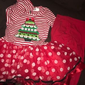 Rare Editions Christmas 2 piece outfit set